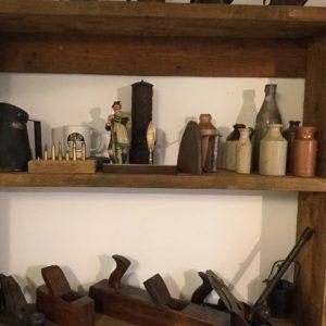 old tools on shelf