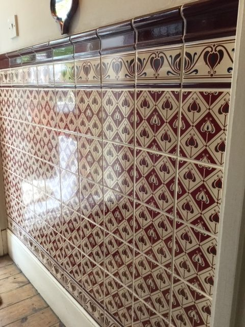tiling wall